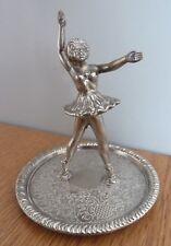 Vintage Ballerina Ring Holder Zinc Alloy Silver Ballet art deco