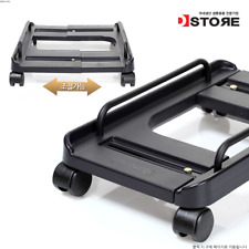 DSTORE PC Desktop Cpu Holder Stand Computer Adjustable Width with Rolling Wheels