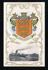 Channel Islands JERSEY Elizabeth Castle SS Roebuck Heraldic pre1919 PPC by Foot