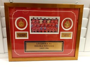 Liverpool Double Winners 1985 / 1986 22ct Gold plated replica medals rare