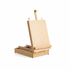 Liffey Wooden Table Box Storage Artist Easel for Drawing, Painting, Calligraphy