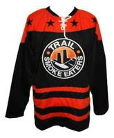 Any Name Number Size Trail Smoke Eaters Custom Hockey Jersey Black Corcoran
