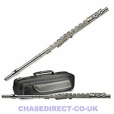 Now Chase Silver Plated Flute in Key of C With Soft Case C77-fe/sc