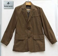 RAINFOREST Winter Coat Jacket Mens sz L Brown Micro Suede like Lined Overcoat