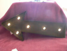 RUSTIC 24X 10-1/2 INCHES AT ARROW POINT  2 INCHES HIGH STUDIO DECOR LED MARQEE