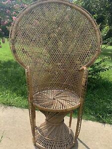 Vintage wicker Emanuel / Peacock Chair