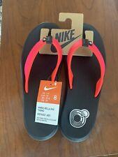 Nike Women's Size 8 Bella Kai Thong Sandals Flip Flop AO3622-601 Black Pink NEW