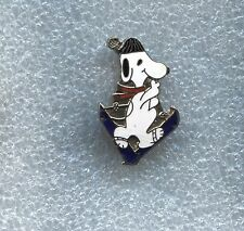 SNOOPY WALKING IN SNOW SKIES PIN