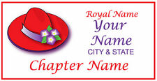 #168 Personalized name badge / tag FOR THE RED HAT LADY OF SOCIETY MAGNETIC