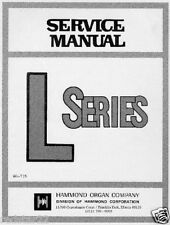 HAMMOND ORGAN L SERIES L100 SERVICE MANUAL ON CD