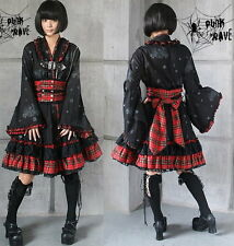 VISUAL KEI PUNK Gothic KERA Lolita Kimono Dress NANA Br