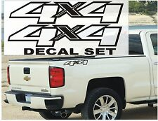 4x4 Truck Bed Decals, GLOSS BLACK (Set) for Chevrolet Silverado, Colorado, S-10