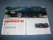 1995 Callaway C9 Supernatural SS Impala Vintage Info Article