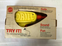 Vintage Mattel Tuff Stuff PLAY Drill Pull Cord Works with Box Toy Tool 1972