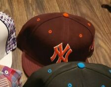 New Era MLB 5950 Fitted Hat VT New York Yankees sz 8 used distant replays