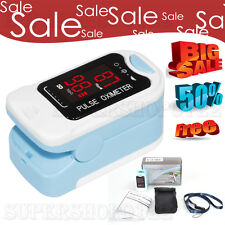 LED Finger Tip Pulse Oximeter free Pouch SPO2 PR Blood Oxygen Heart Rate Monitor