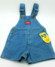 VTG Oshkosh Denim Vestbak Short Overalls 3T Unisex Red...
