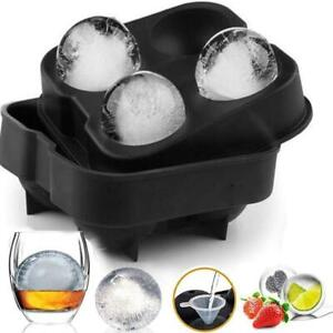 Large Ice Cube Tray Ball Maker Big Rubber Mold Sphere Whiskey DIY Round Moulds