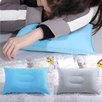 Dormir Plegable Almohada Inflable De Aire Cojín Flocado Viajes Al Aire Libre