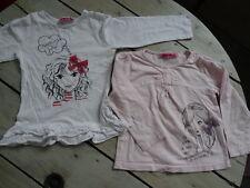 Lot 2 T-shirts manches longues blanc et rose clair imprimés NKY Taille 4 ans
