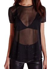 Maglie e camicie da donna neri con girocollo taglia 36