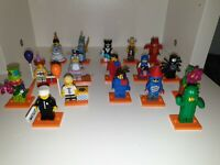 LEGO  MINIFIGURE SERIES 18 FULL SET OF 17 MINIFIGURES INCLUDING RARE POLICEMAN