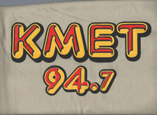 """Brand New"" KMET 94.7 CLASSIC T SHIRT <<< BLONDE HASH BROWN >>>  SIZE -> LARGE L"