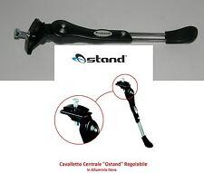 """Cavalletto """"Ostand"""" in Alluminio Nero Regolabile x Bici 27,5-29 MTB Mountain Bik"""