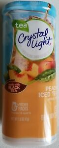 NEW CRYSTAL LIGHT PEACH ICED TEA DRINK MIX 12 QUARTS FREE WORLDWIDE SHIPPING