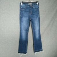 Cello BootCut Released Hems Jeans Women's Sz 1 Ankle Stretch Frayed Hems