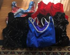 5 Gymnastics Leotards 1 Gk Elite, 2 Danskin, 2 Alpha Factor