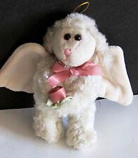 "BOYD'S BEARS Retired Plush GWENETH LAMB ANGEL Fabric Ornament Wings 5.5"" FREE SH"