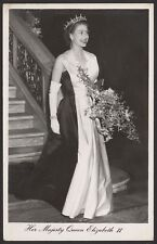 Her Majesty Queen Elizabeth II Smiling in a Ball Gown - Real Photo Postcard
