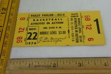 UCLA v Athletes in Action AIA 11/22/1974 ticket basketball