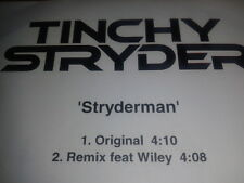 CD Single 2009 PROMO Tinchy Stryder - Stryderman with the rare Wiley remix