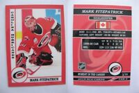 2015 SCA Mark Fitzpatrick Carolina Hurricanes goalie never issued produced #d/10