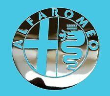 ALFA ROMEO Silver Chrome Sticker 30mm x 30mm Vinyl Metallic Exterior Car Body