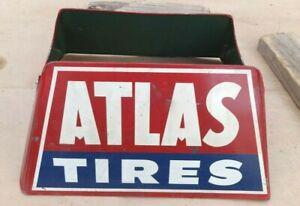 Vintage ATLAS TIRES DISPLAY RACK STAND HOLDER Original S-1 S.S