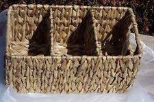 Körbe Besteckkorb Korb 3 Fächer Wasserhyazinthe Auf Metallrahmen Versandkosten Frei Hochglanzpoliert