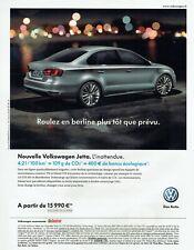 Publicité Advertising 049  2011   nouvelle Volkswagen Jetta  Tdi berline vw