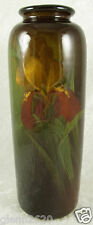 Weller Pottery Louwelsa Vase Josephine Imlay Iris Floral 9.25inH Signed c1900
