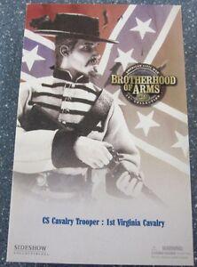 SIDESHOW 12 INCH CIVIL WAR CONFEDERATE 1st VIRGINIA CAVALRY TROOPER SOLDIER MIB