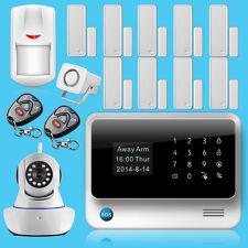 2017 US Stock,720P IP Camera,G90B WiFi+GSM APP Control Home Burglar Alarm System