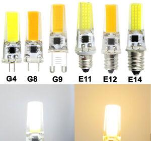 G4/GY6.35/G8/G9//E10/E11/E12/E14 COB 2508 LED Light Bulb T5 Silicone Lamp #1
