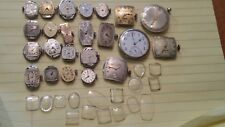 Watch Movements, For Parts Or Repair, Some Functional, 23 Movements, 18 Glass