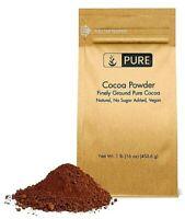 Cocoa Powder (1 lb) Pure Cocoa for Cooking & Skin Care Purposes by PURE Organic