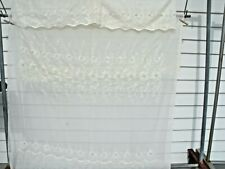"Vintage Floral  Embroidered Ivory Sheer Panel [1] 82 x 59"" -- [2] Valances"