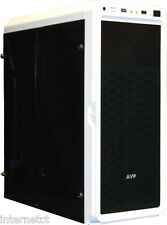 AVP X6 WHITE MID TOWER GAMING ATX PC CASE WITH FULL ACRYLIC FRONT & SIDE PANELS