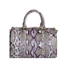 TALLI Women Girls Real Genuine Python Leather Snakeskin Sholder Boston Tote Bag
