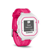Garmin Forerunner 25 Gps Running Watch 010-01353-21, Small, White/Pink